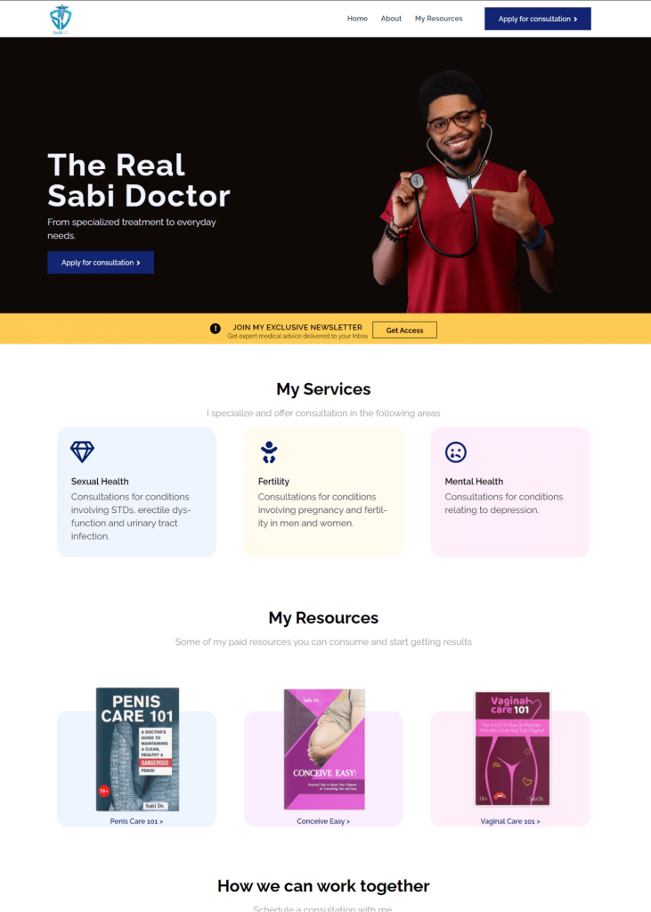 website Development for a Medical Consultant